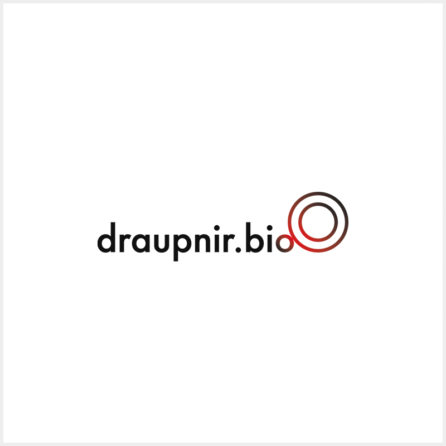 Draupnir.bio job positions logo high resolution white background